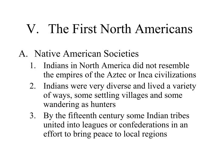 V.The First North Americans