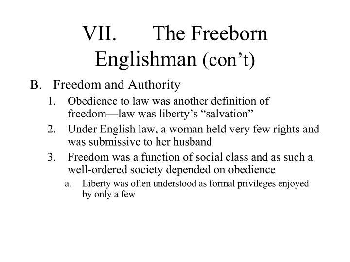 VII.The Freeborn Englishman