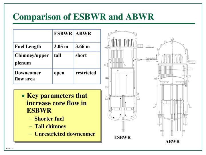 Comparison of ESBWR and ABWR
