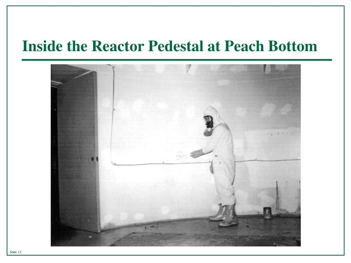 Inside the Reactor Pedestal at Peach Bottom