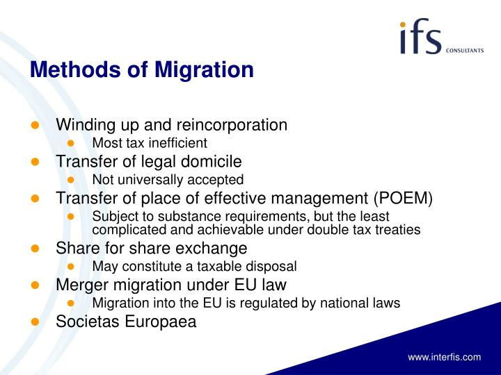 Methods of Migration