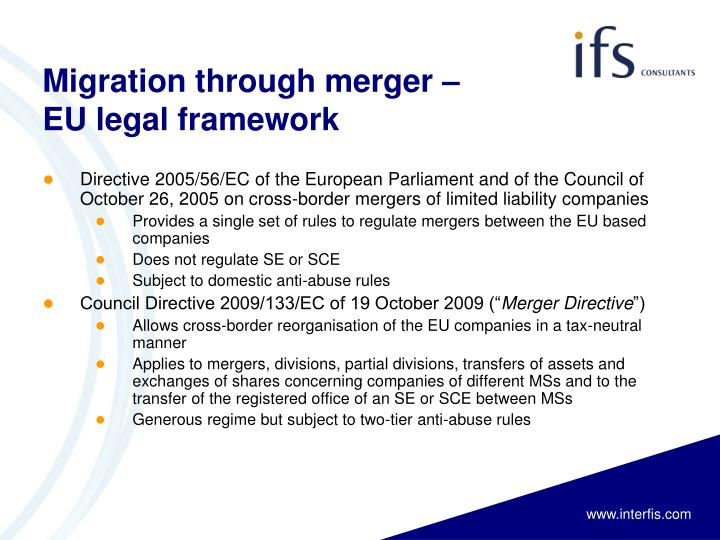 Migration through merger –