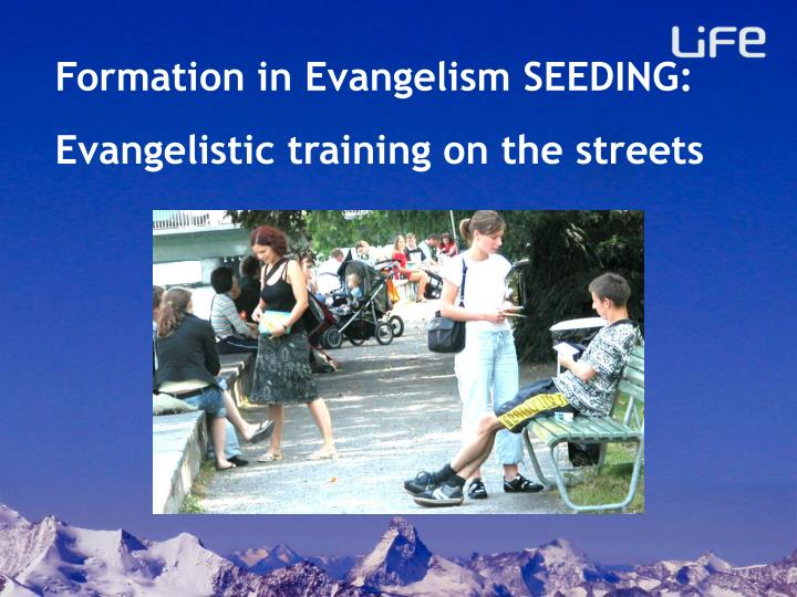 Formation in Evangelism SEEDING: