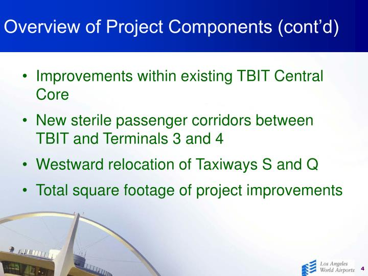 Overview of Project Components (cont'd)
