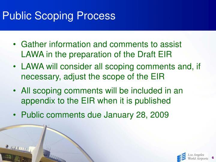 Public Scoping Process