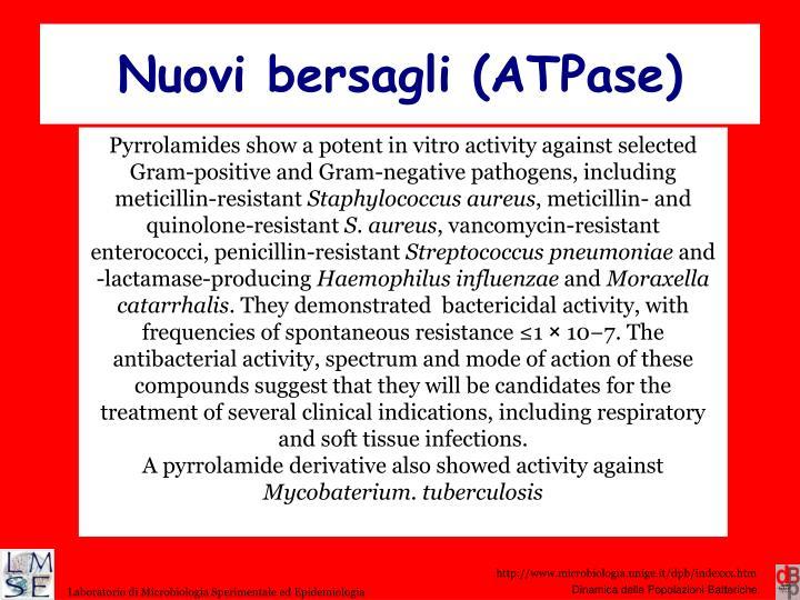 Nuovi bersagli (ATPase)