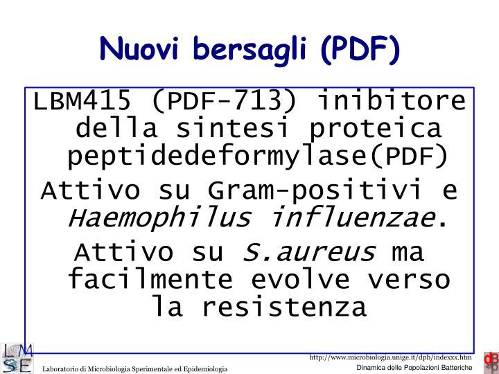 Nuovi bersagli (PDF)