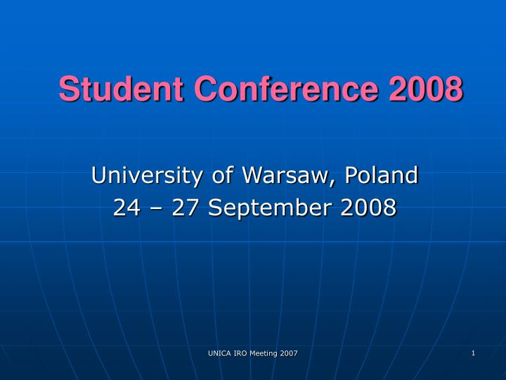 student conference 2008