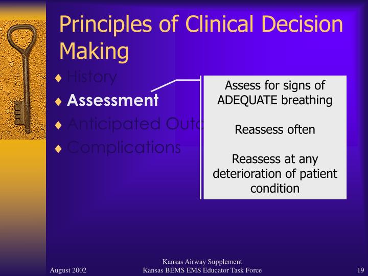Principles of Clinical Decision Making