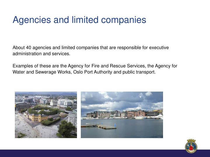 Agencies and limited companies