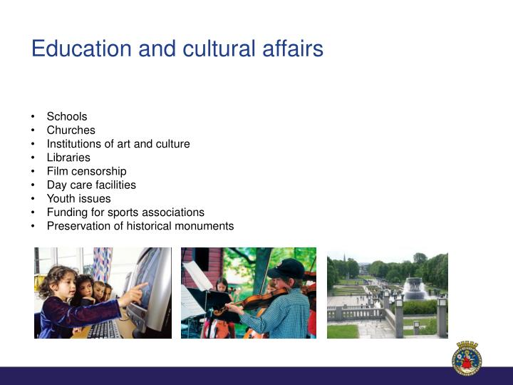 Education and cultural affairs