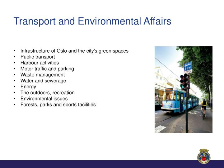 Transport and Environmental Affairs