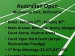 australian open melbourne park melbourne