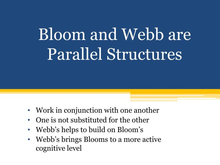 Bloom and Webb are Parallel