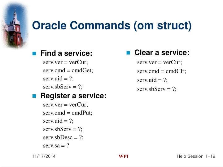 Find a service: