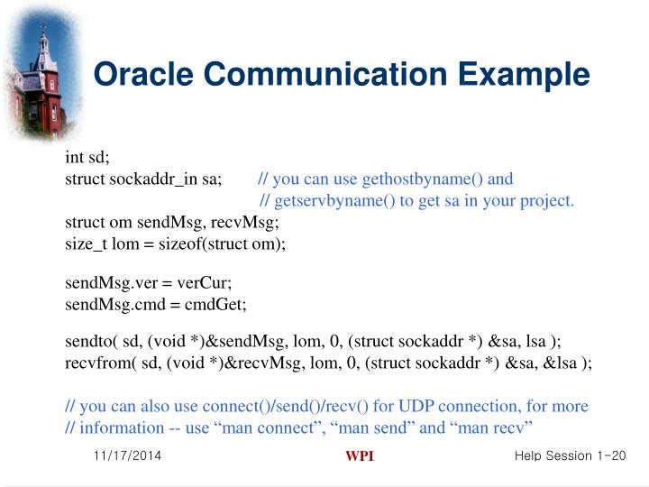 Oracle Communication Example