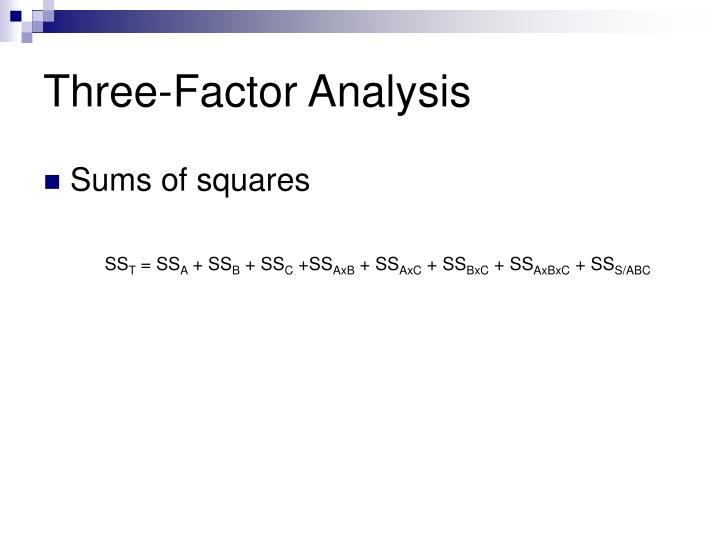 Three-Factor Analysis
