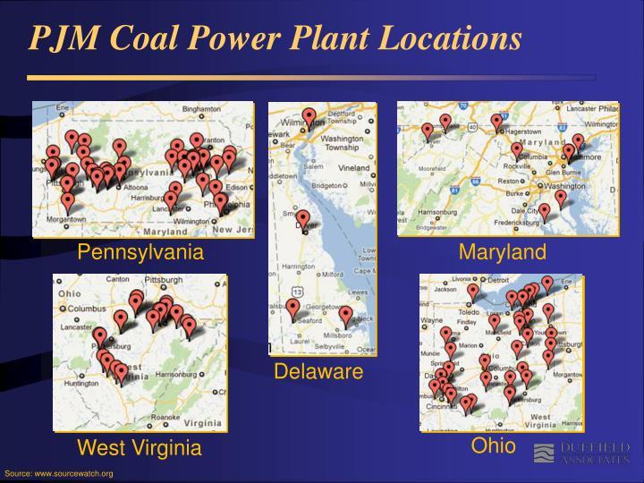 PJM Coal Power Plant Locations