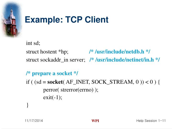 Example: TCP Client