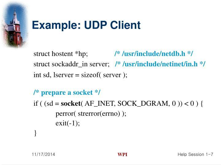 Example: UDP Client