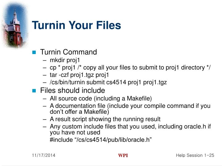 Turnin Your Files