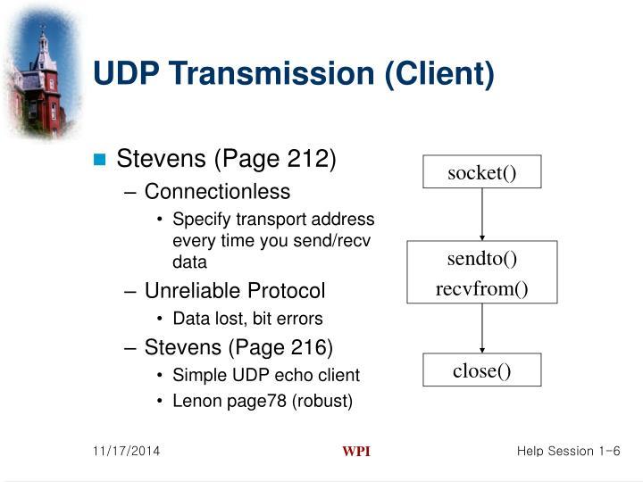 UDP Transmission (Client)