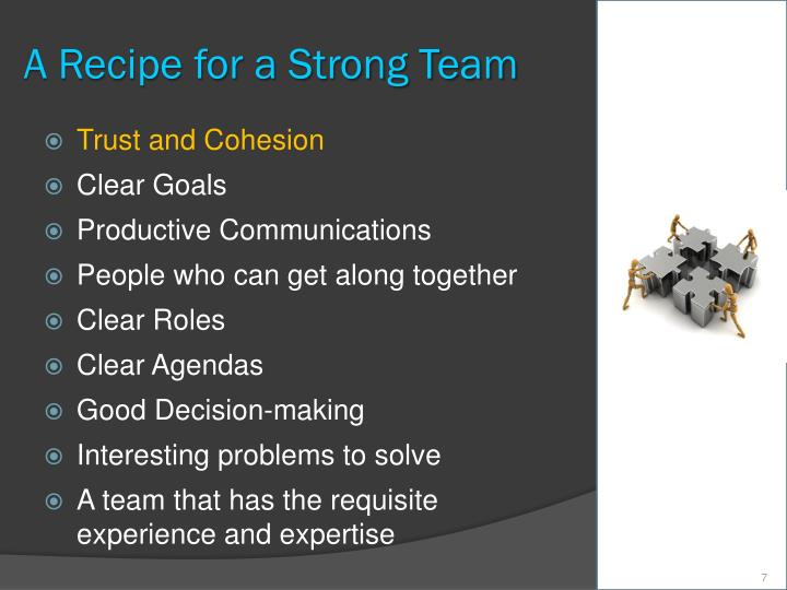 A Recipe for a Strong Team