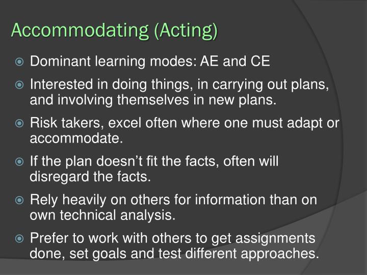 Accommodating (Acting)