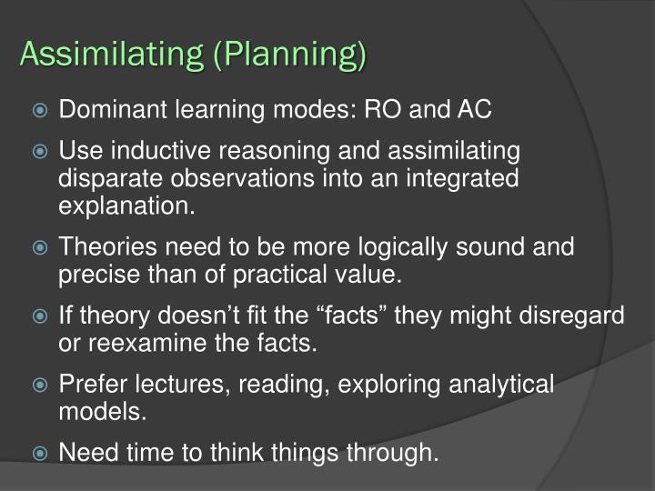 Assimilating (Planning)