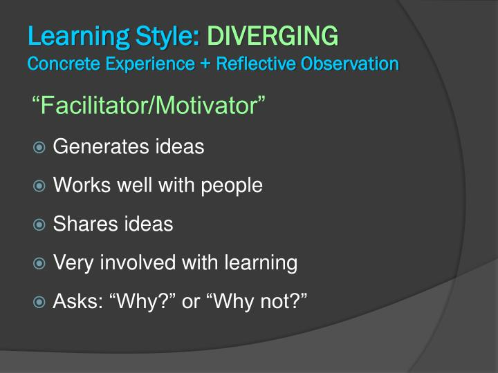 Learning Style: