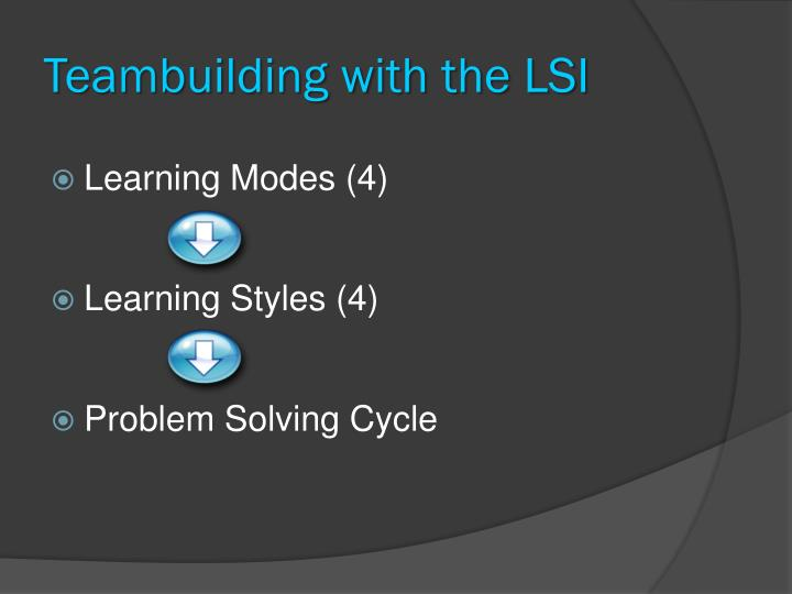 Teambuilding with the LSI