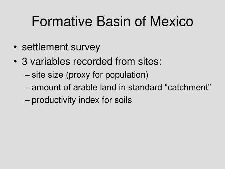 Formative Basin of Mexico