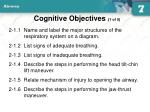 cognitive objectives 1 of 5