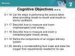 cognitive objectives 4 of 5