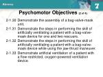 psychomotor objectives 2 of 4