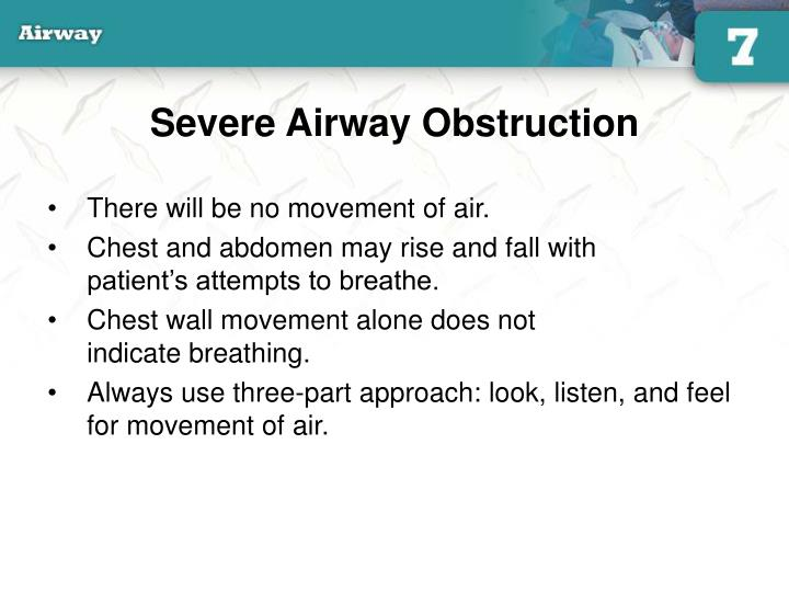 Severe Airway Obstruction