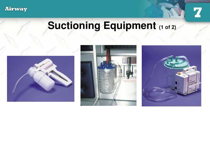 Suctioning Equipment