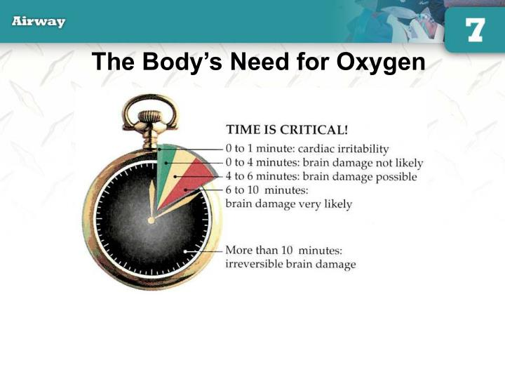 The Body's Need for Oxygen