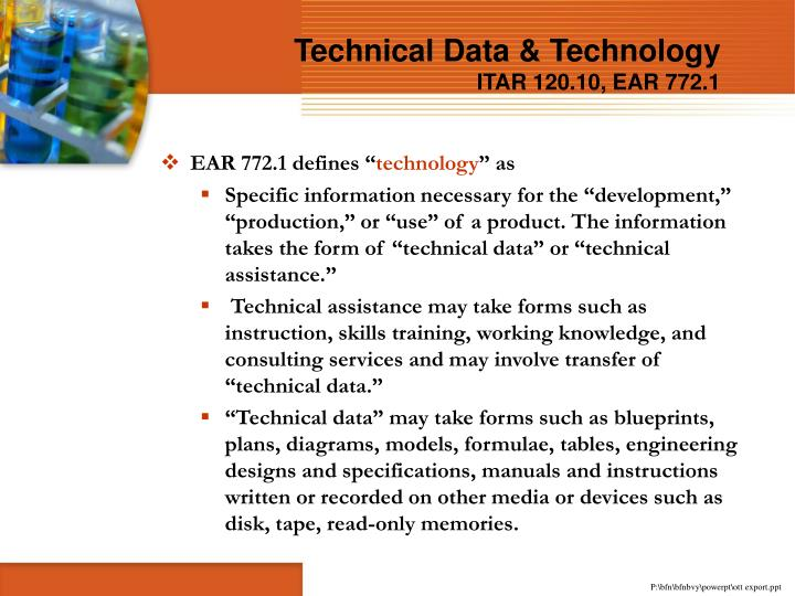 Technical Data & Technology