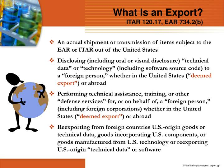 What Is an Export?
