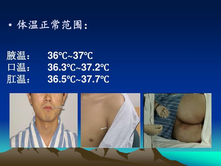 体温正常范围
