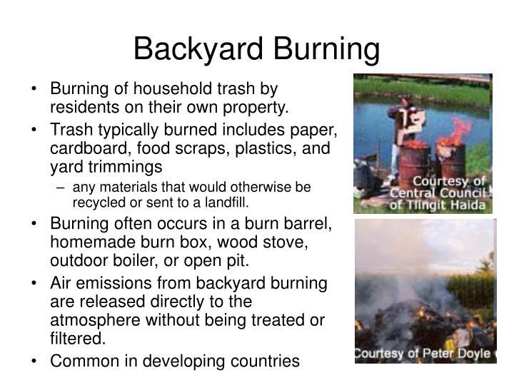 Backyard Burning