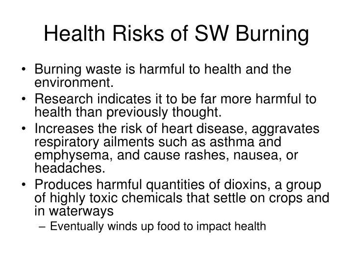 Health Risks of SW Burning