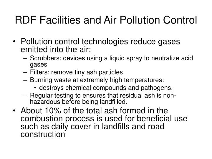 RDF Facilities and Air Pollution Control