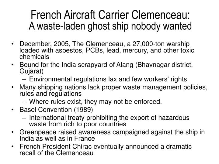 French Aircraft Carrier Clemenceau: