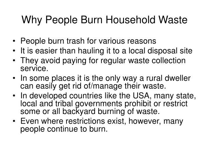 Why People Burn Household Waste