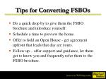 tips for converting fsbos