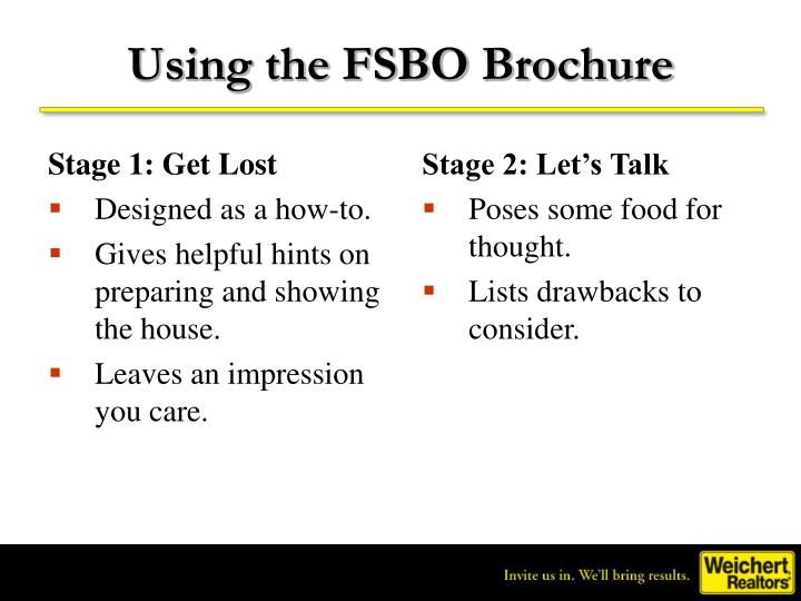 Using the FSBO Brochure