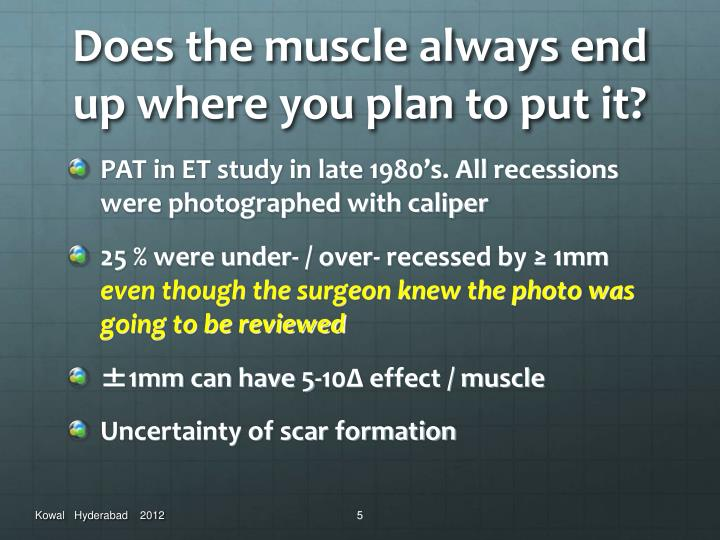 Does the muscle always end up where you plan to put it?