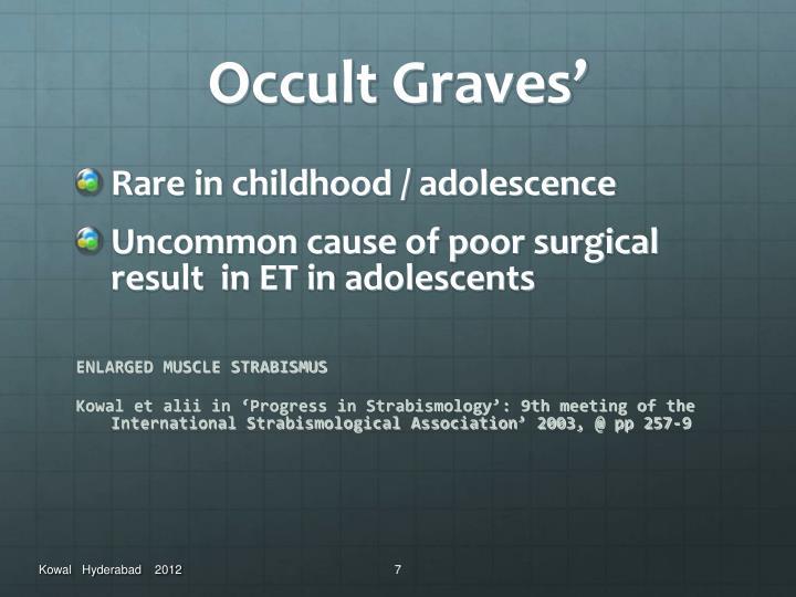 Occult Graves'